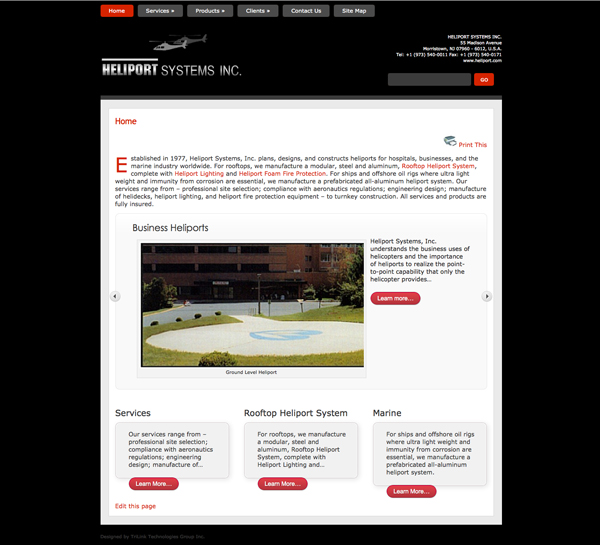 Client Website - Heliport Systems