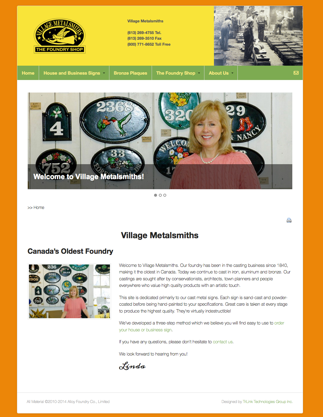 Optimized Website – Village Metalsmiths