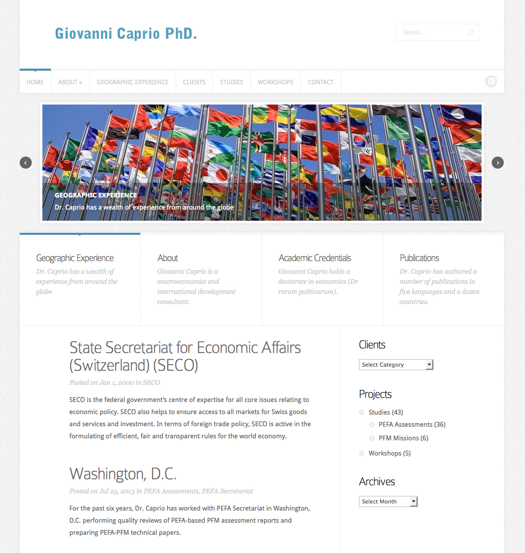 Optimized Website – Giovanni Caprio